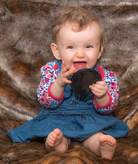 Like a cat that got the cream (Wayne Cappleman (Haywain Photography)) Tags: portrait baby photography wayne hampshire farnborough haywain cappleman