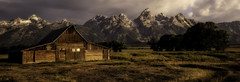 A Moment of Light (Jeff Clow) Tags: 2016 jacksonhole mothernature usa wyoming landscape offthebeatenpath offthebeatentrack outdoors outside roadlesstraveled scenery scenics summer barn rural iconic timeless moultonbarn