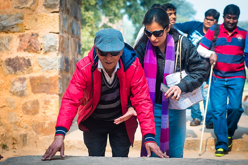 Accessible Tour of Qutub Minar: A still from the tour of Qutub Minar.
