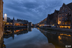 Reflejos de Gante II (davidcabrerafotografia) Tags: gante ghent gent belgica belgium europe europa architecture city ciudad reflejos reflecting augua water