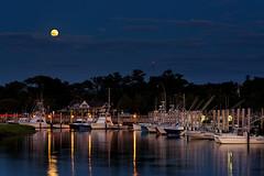 Rock Harbor Full Moon (bprice0715) Tags: canon canoneos5dmarkiii canon5dmarkiii landscapephotography landscape nature naturephotography rockharbor boats twilight moon fullmoon bluehour capecod night