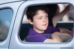 Kids - rear window boy - Jacaranda Parade 2015 (sbyrnedotcom) Tags: 2015 people events grafton jacaranda parade rural town boy window purple nsw australia