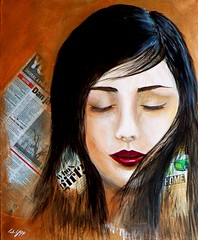 Don't wish to know (William Yipp) Tags: portrait painting mixedmedia imagesofharmony