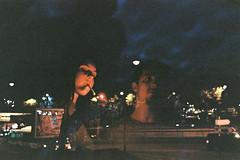 People Vultures (Louis Dazy) Tags: 35mm analog film double exposure city skyline paris dark night portrait cigarette