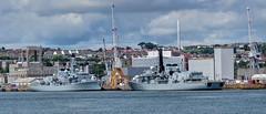 Royal Navy Type 23 frigates at Devonport (Baz Richardson (now away until 30 July)) Tags: plymouth devon devonport royalnavy hmsmonmouth hmsrichmond navalbases type23frigates