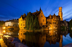 Brugge_Dijver (A_Pattyn) Tags: bruges brugge belgië belgium belgique dijver europe city stad view light nightlight nightshot bluehour blauw uur avond night zomer summer water reflection august augustus architecture nikon d7000 reflectie