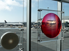 photo -Art Istallation at SFO (Jassy-50) Tags: photo sanfranciscoairport sfo airport sanfrancisco california art artwork airplane plane