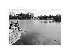 holidays (Marek Pupk) Tags: summer blackandwhite bw water monochrome kids holidays europe central documentary slovakia
