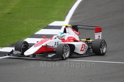 Nisei Fukuzumi in the ART GP car in Qualifying for GP3 at the 2016 British Grand Prix