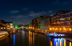 River side Bristol (technodean2000) Tags: city uk england color colour reflection tree water skyline architecture night buildings river nikon waterfront outdoor saturation greet lightroom d610