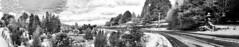 Neika panorama (13 images) black and white (andrewcaswell) Tags: neika tasmania australia winter snow pano panorama sky reflection