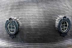 Silent Watch (jadzia0410) Tags: roof abstract window metal eyes pattern view frankfurt shingle stare gaze turnundtaxis