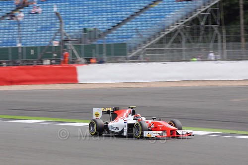 Daniël de Jong in the MP Motorsport car in GP2 Qualifying at the 2016 British Grand Prix