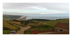 Drone Capture 2 (THE-MINIMAN) Tags: hills sea cliffs seaford green paths barn bushes landscape drone sky high above birdseyeview