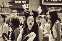 Toronto Pride 2016 (MorboKat) Tags: people toronto ontario canada monochrome march drum outdoor crowd pride parade prideparade lgbt yongestreet drumming yonge spectator shouting shout torontopride pridemarch prideto pride2016 torontopride2016