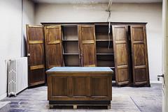 Retirement - URBEX ((Virginie Le Carr)) Tags: urbex bourdeaux bureau desk armoire closet bancal wobbly intrieur inside lost lostplace derelict decay desolate decayed