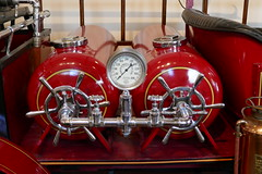 Detail of Ford Fire Truck (en tee gee) Tags: red detail fireengine gauge tanks coldspringharbor