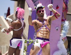 The manliest unicorn you will see today (San Diego Shooter) Tags: pride gay gaypride pride2016 sandiegopride sandiegopride2016 sandiego portrait streetphotography unicorn