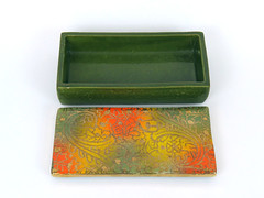 Italian Cigarette Box (altfelix11) Tags: pottery artpottery ceramics artceramics italianpottery italianceramics import cigarettebox box multicolored gold rosenthalnetter collectible collectable