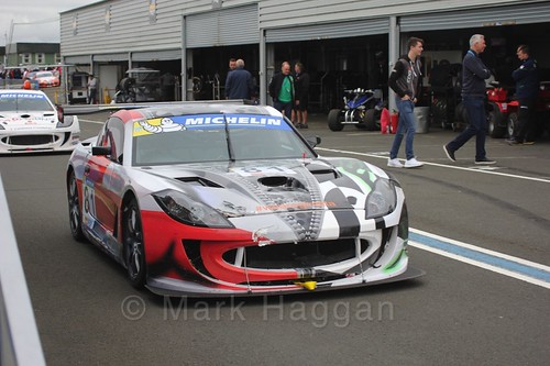 Tom Hibbert in the Ginetta GT4 Supercup at the BTCC Knockhill Weekend 2016