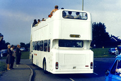 Slide 068-35 (Steve Guess) Tags: derby day epsom downs surrey england gb uk open top bus topper topless hrc486d lincolnshire rear leyland atlantean