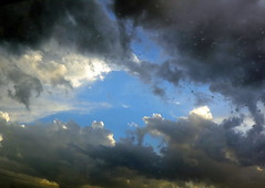 Heavy Clouds (Khaled M. K. HEGAZY) Tags: nikon coolpix p520 kingdomofsaudiarabia ksa nature outdoor closeup blue white black sky cloud