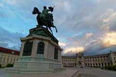 Heldenplatz in Vienna (hl_1001) Tags: austria vienna museum heldenplatz hofburg palace clouds sky sunset