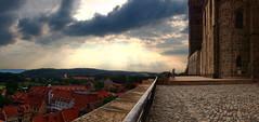 Quedlinburg / Germany (_BSnake_) Tags: quedlinburg schlossberg stiftskirche kirce alt mittelalter castle hill sky luft panorama sonnenuntergang old germany harz quedlinburgharz
