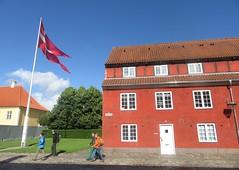 Fluttering flag at Kastellet (cohodas208c) Tags: barracks fort citadel kastellet copenhagen bluesky redbuilding kingchristianiv