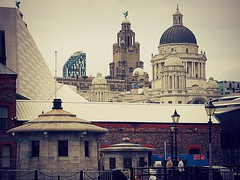 Liverpool City, layers of history and culture in rooftops (captainmorganme) Tags: culture liverpool city cityscape cathedral docks england uk architecture building skyline rooftop roof liverbird liverbuilding port