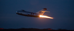 Late Fast Take-off MIG-17 (4myrrh1) Tags: 2016 cherrypoint nc aircraft airplane aviation airshow airplanes airport randy ball randyball mig17 afterburner night takeoff canon 6d ef70300l