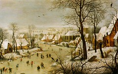 Bruegel_1565_Winter-scene-with-a-bird-trap_WIK (ArtTrinArt!!) Tags: pieter bruegel 15251569
