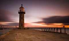 Whitby Sunrise #2 (Dave Holder) Tags: whitby northyorkshire lighthouse longexposure landscape canon70d canonefs1022mm leefilters leebigstopper sunrise seascape clouds