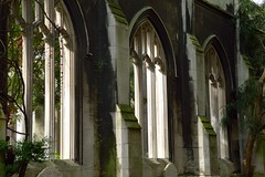 St Dunstan in the East Church Garden (markpembrey) Tags: church garden churchyard outdoors uk england london light contrast architecture old history historical vines religious ruins beauty beautiful nature window