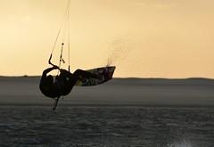 Kite sunset (vanderven.patrick) Tags: kite kitesurfing sunset watersports sea ocean summer extremesport sky jumping stunting trick nikon d7100 nikkor 70300