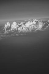 Above (MartaWolf) Tags: above travel bw clouds airplane flying high journey traveling kumulonimbusi