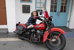 2008 with 1962 (hanenashi2968) Tags: kids vintage daughter harley harleydavidson  motorcycle osaka hd 1962   sidevalve  childlen    cafedecomp