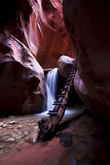 _DSC0483 KANNARAVILLE FALLS (antelope reflection) Tags: reflection waterfall stream southernutah redrock tamron nikond90 kanneraville
