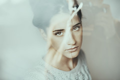 Giovanna (Alessio Albi) Tags: light portrait woman white color girl beauty reflex cyan pale albi
