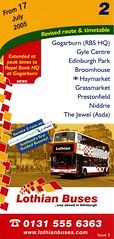 07.2005 (Callum Colville's Lothian Buses) Tags: 2 bus buses edinburgh timetable lothian lothianbuses edinburghbus busesedinburgh
