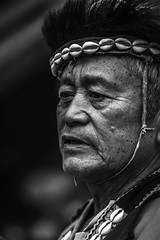 Tsou_chief-0000433bw (mingshah) Tags: old wild man asia chief taiwan age wise warrior tradition tribe chiayi alishan tsou austronesian
