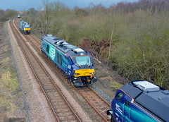 Evolution in real time at North Staffs Junction (robmcrorie) Tags: north evolution junction class crewe derby 68 rtc staffs drs 68001