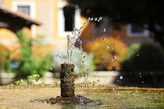 thirst (1crzqbn) Tags: sunlight color fountain bokeh courtyard thirst vaticancity itwashot hbw 1crzqbn