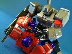 I'll rip out your optics! (ry_bread84) Tags: transformers megatron autobots optimusprime decepticons transformersthemovie revoltech acba toycrewbuddies