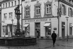 Fischmarkt (doto2015) Tags: street white black monochrome germany deutschland fuji brunnen streetphotography offenburg fujifilm monochrom baden schwarz weis x100 ortenau x100t