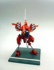 Bulwark - 3C (SuperHardcoreDave) Tags: red war lego walker fantasy weapon future scifi mecha mech moc