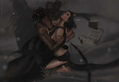 Coralie and Skip~Safe (Skip Staheli (Clientlist closed)) Tags: winter snow couple emotion avatar dramatic sl digitalpainting secondlife bow warrior romantic dreamy feelings skipstaheli coraliebilasimo