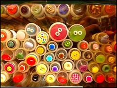buttons (junestarvisions) Tags: buttons vibrantcolors ashlandoregon yarnshop