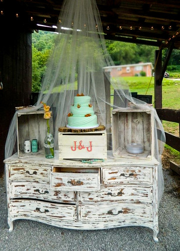 """Country Chic Wedding cake in mint. • <a style=""""font-size:0.8em;"""" href=""""http://www.flickr.com/photos/50891271@N03/16160420868/"""" target=""""_blank"""">View on Flickr</a>"""