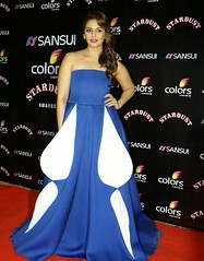 Huma Qureshi Stills in Blue Gown Dress at Sansui Colors Stardust Awards in Mumbai (Tech Uday) Tags: colors dress awards mumbai sansui stills stardust qureshi